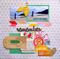 Amy Tangerine Cut and Paste layout inspiration. #lovely #americancrafts #scrapbooking