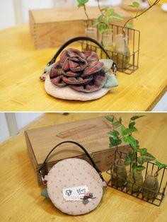 Simple handbag: flower appliqué tutorial. DIY tutorial in pictures.
