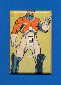 Superhero Light Switch Plate  Captain Britain by IntergalacticDesign, $14.95