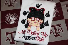 Texas A&M Aggie girly shirt by stephstowell on Etsy, $21.00