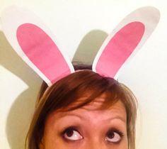 How to make Bunny Ear Headbands. Free Printable. www.onebymeforyou.com