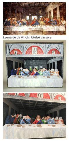 Manninger Zsuzsa, dioráma Leonardo da Vinchi Utolsó vacsora c. képe alapján / Kormányos Fanni, diorama - after Leonardo da Vinchi