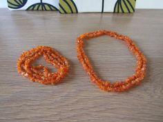 FREE SHIPPING Vintage baltic amber chip necklaces por tiendanordica, $69.00
