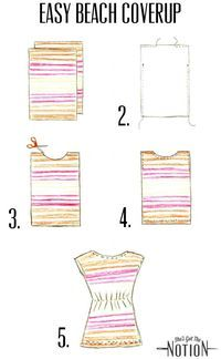 Diy Easy Beach Cover-Up: sewing tutorial #cruisewear  | She's Got the Notion