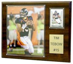 """Denver Broncos Plaque - Tim Tebow 12""""x15"""" Player"""