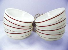 Vintage Milk Glass Bowl Set of 8 by Chaseyblue on Etsy