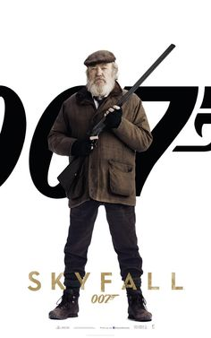 An unused character poster for the critically acclaimed James Bond film has found its way online, featuring Albert Finney's (The Bourne Legacy) character Kincade. Hit the jump to check it out. James Bond Movie Posters, James Bond Movies, Original Movie Posters, Film Posters, Skyfall, Casino Royale, Jack The Giant Slayer, Fictional Heroes, Daniel Craig James Bond