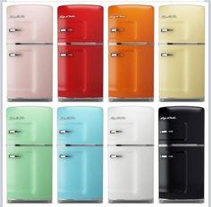 Retro Refrigerators in fun colors! Home Design Decor, Retro Home Decor, Küchen Design, Diy Home Decor, Chair Design, Design Ideas, Interior Design, Retro Kitchen Appliances, Vintage Appliances