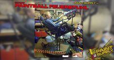 """Hallo liebe Paintball-Bastler, wie im Millenium Falken von Han Solo hat Matt Marais diesen """"Feuerstuhl"""" zusammen mit einem Freund gebaut. Der Stuhl bewegt sich von Links nach Rechts und Oben nach Unten, alles mit einem Joystick gesteuert. Ebenfalls kann man mit einem Druck auf den Joystick zwei Paintball Markierer abfeuern."""