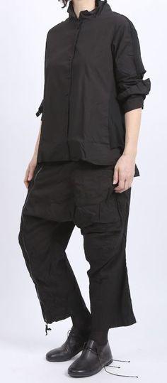 rundholz dip - Bluse mit Shirt Cotton black gum - Sommer 2016 - stilecht - mode für frauen mit format...