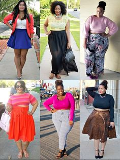 Crop Top Spring Summer 2014 Trend Plus Size Blogger...I like the first outfit