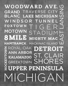 I love Michigan.. and this print :) $35.00 www.etsy.com