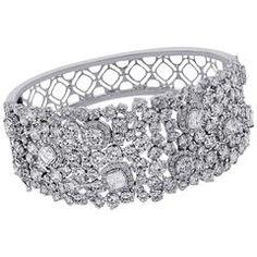 Fancy Cut Diamond Bangle