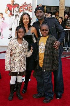 Morris Chestnut, wife Pam and children Paige and Grant- Black Love