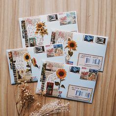 Envelope Art, Envelope Design, Aesthetic Letters, Mail Art Envelopes, Snail Mail Pen Pals, Blog Art, Pen Pal Letters, Bullet Journal Art, Handwritten Letters