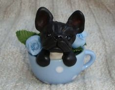 French Bulldog Teacup by ErinsK9Collectibles