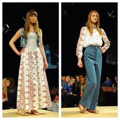 First two outfits of my Hippie Francisco Collection at Norwich Fashion Week