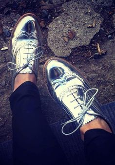 Sam Edelman Silver Metallic 'Jerome' oxford. These are $150 at Dillards right now but I found them at TJ Max for $39!