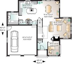 First Floor Plan of Traditional   House Plan 65113