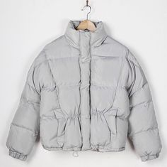 fila reflective puffer jacket. uo exclusive fila toto reflective silver cropped puffer jacket | jackets, coats and clothes