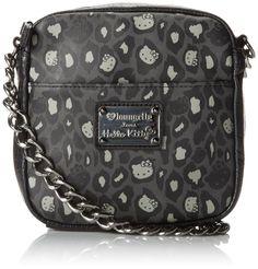 2db6af5708 Hello Kitty Hello Kitty Black Grey Leopard Print Chain Cross Body Bag Hello  Kitty Handbags