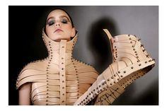 Fashionable Prosthetics: Una Burke's Constricted Creations Are Inspired by Medical Braces