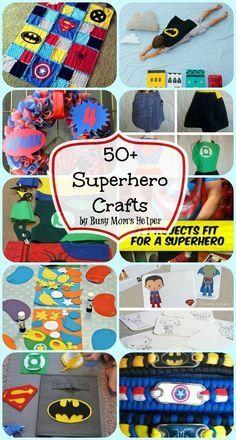 50+ Superhero Crafts / by Busy Mom's Helper #superhero #crafts #kidcrafts