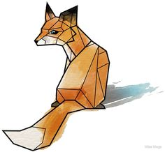 hipster fox logo geometric - Google Search
