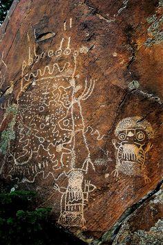 Dinwoodie Style Petroglyphs, Wyoming by WY Man