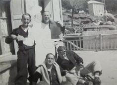 Vintage French Photograph - Group of Men in Font Romeu, France by ChicEtChoc on Etsy