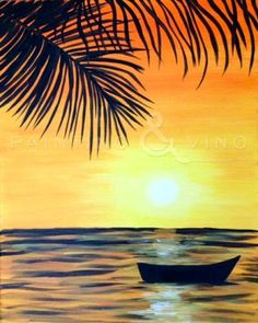 """Tropical Oasis"" Tuesday January 20th, 6-9pm at 98 Bottles in Little Italy. Come paint with us! Just click the picture to follow the link!"