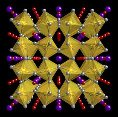 The crystal structure of CaCu3Ti4O12, an ordered perovskite. Perovskites are ceramics with a structure that gives them remarkable abilities to store electric charge.