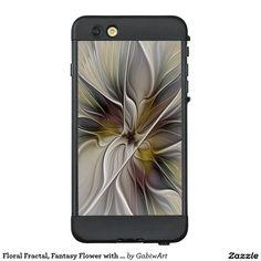Floral Fractal, Fantasy Flower with Earth Colors LifeProof® NÜÜD® iPhone 6 Plus Case