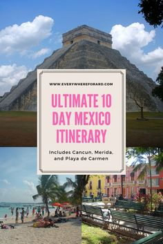 Planning a trip to Mexico? Here is your 10 day Yucatan Mexico itinerary. We incl… Planning a trip to Mexico? Here is your 10 day Yucatan Mexico itinerary. We include things to do in mexico, the highlights of the Yucatan, and where to stay in Mexico. Cozumel, Cancun, Tulum, Mexico Vacation, Mexico Travel, Mexico Destinations, Travel Destinations, Puerto Vallarta, Riviera Maya