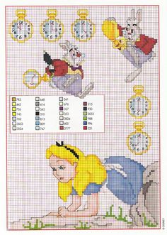 Alice and the White Rabbit to cross stitch