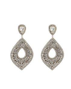 Deepa Gurnani Deepa By Cedani Earrings In Silver Deepa Gurnani, Silver Earrings, Drop Earrings, World Of Fashion, Ear Piercings, Luxury Branding, Women Accessories, Crochet Earrings, Brass
