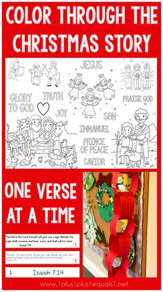 Color Through the Christmas Story One Bible Verse at a Time for Advent ~ a simple way to focus on the story of Christs' Birth in the Bible. Pop Up Christmas Cards, Christmas Tree Lots, 12 Days Of Christmas, A Christmas Story, Christmas Worksheets, Christmas Activities For Kids, Free Christmas Printables, Preschool Christmas, Free Printables