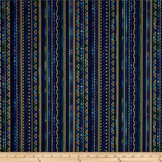 Lumina Metallic Stripe Peacock from @fabricdotcom  Designed by Peggy Toole for Robert Kaufman, this cotton print is perfect for quilting, apparel and home decor accents. Stripes run parallel to the selvage. Colors include shades of blue, shades of purple, shades of green and metallic gold.