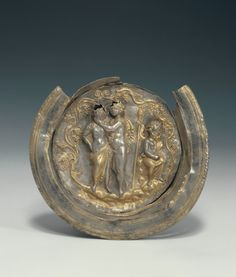 Bowl with a Medallion Depicting Dionysos and Ariadne. Unknown, Greek, Asia Minor, 150 - 100 B.C. or 100 - 50 B.C. | The J. Paul Getty Trust