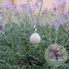 Breast Milk Jewelry & Keepsakes from Indigo Willow: Small Breast Milk Pearl Pendant