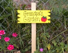Image result for a sign grandpa garden