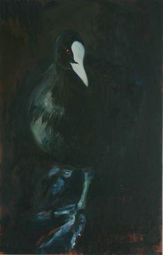 Eva de Visser – Title: Coot (Meerkoet). Oil on wood. W: 100 cm x H:150 cm. 2011