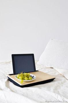 Kikkerland iBed Lap Desk NEU/OVP Wood Holz Tablet iPad Holder NEW/OVP Wooden
