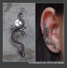 Sid steampunk ear cuff by bodaszilvia