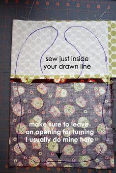 Easy DIY Bib....other cute baby tutorials by Banphrionsa