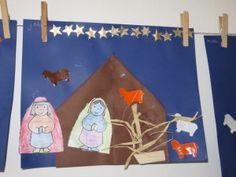 Stal knutselen met de jongste kleuters, kleuteridee.nl / manger craft for preschool / bricolage maternelle