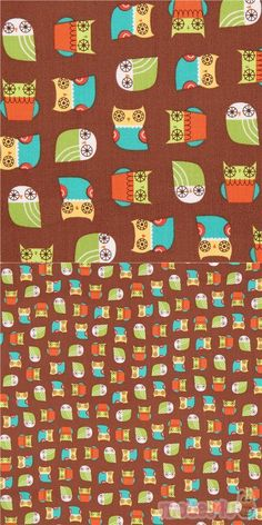 "cute animal fabric from the USA, Design: Suzy Ultman, by Robert Kaufman, Collection ""Suzy's Minis"", Design: Suzy Ultman Owl Fabric, Cotton Fabric, Minis, Modes4u, Kawaii, Owl Bird, Robert Kaufman, Cute Owl, Animales"