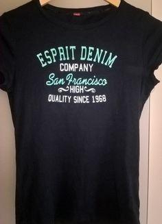 Kup mój przedmiot na #vintedpl http://www.vinted.pl/damska-odziez/t-shirty/21012478-czarna-bluzka-z-nadrukiem-esprit