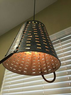 diy how to make a cage pendant light shade from a wire basket via rh pinterest com