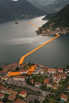 'Floating Piers' by Christo and Jeanne-Claude Readies for its Public Debut | Architect Magazine | Installation, Arts and Culture, Lake Iseo, Italy, Christo , Jeanne-Claude
